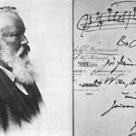 1896 signed Brahms postcard