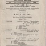 1945 Carnegie Hall Program
