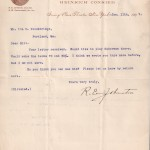 1897 Booking Letter
