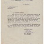 1946 Palestine Orchestra letter