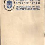1936 Palestine Orchestra program