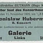 1923 concert ticket