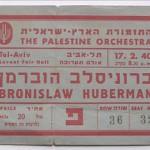 1940 concert ticket