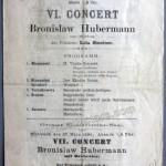 1901 concert program