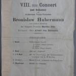 1895 concert program