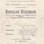 1903 concert program