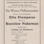 1936 concert program