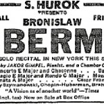 1940s concert ad