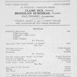 1921 concert program