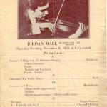 1923 concert program