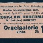1932 concert ticket